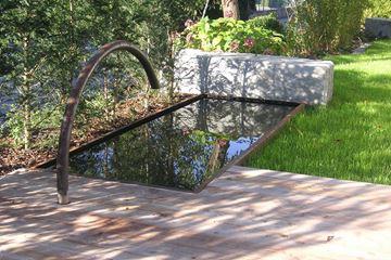 Bild von Brunnen Barca roh mit Einlauf