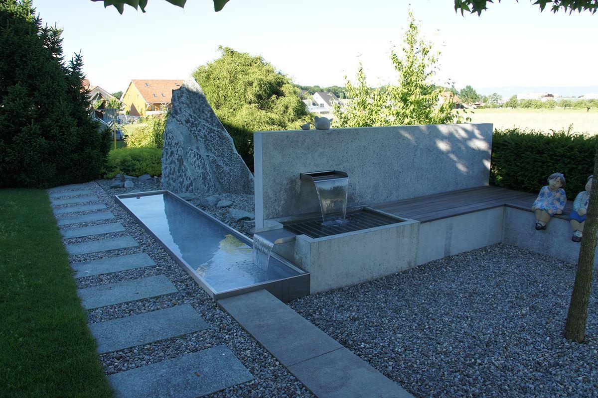 Brunnen spezial aus beton conma gartendesign - Beton gieayen garten ...