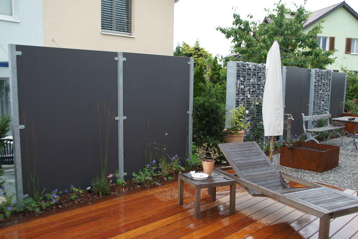 pfosten zum einbetonieren f r exteriorplatten conma gartendesign. Black Bedroom Furniture Sets. Home Design Ideas