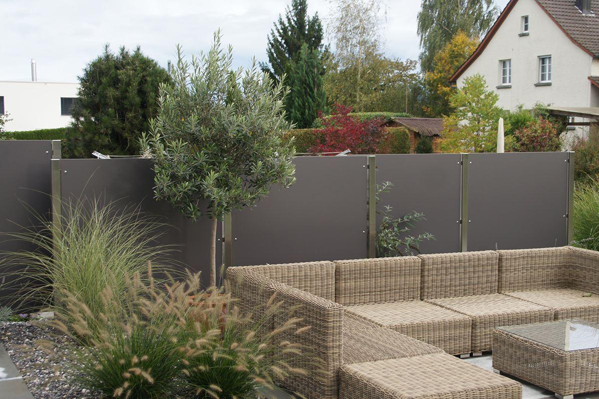 Pfosten zum Einbetonieren für Exteriorplatten Conma Gartendesign