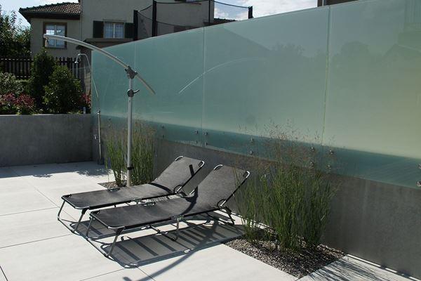 Glaswand Im Garten : Glaswand  Conma Gartendesign