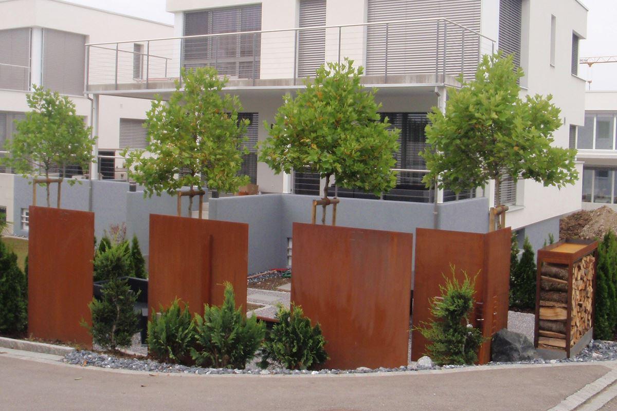 Stahlwand Zum Einbetonieren Conma Gartendesign