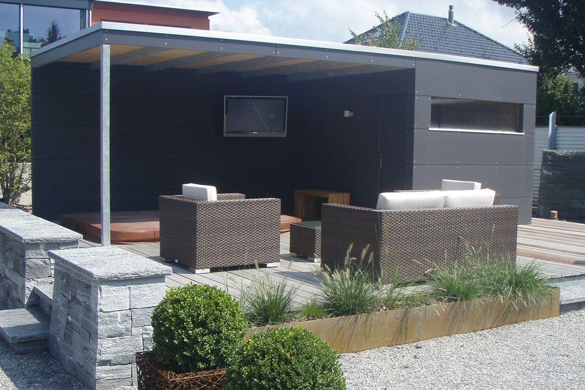 gartenhaus conma gartendesign. Black Bedroom Furniture Sets. Home Design Ideas