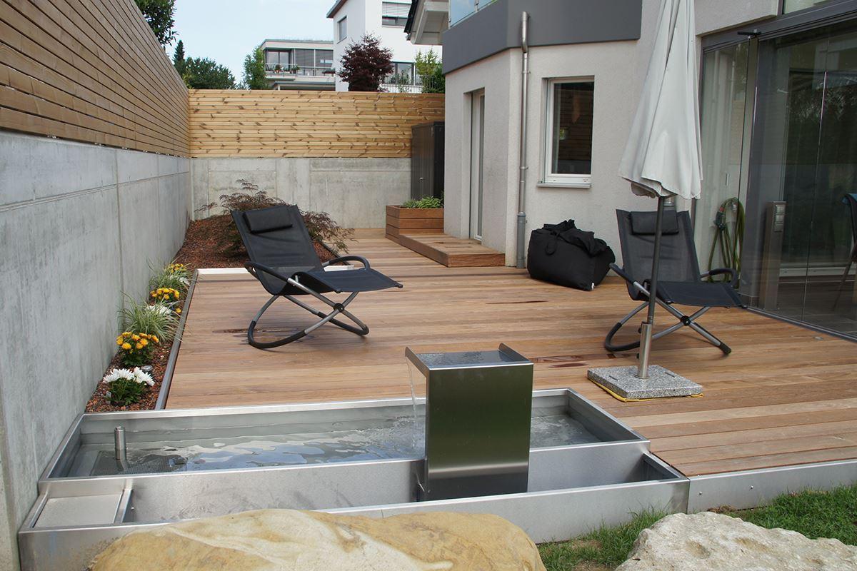 terrassenbelag conma gartendesign. Black Bedroom Furniture Sets. Home Design Ideas