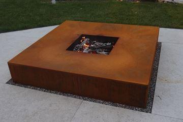 Bild von Feuerschale Quader