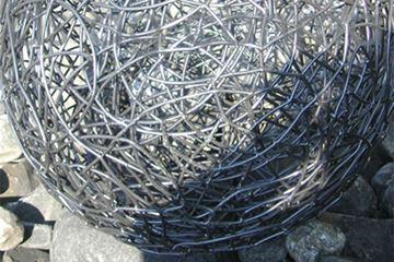 Bild von Drahtkugel ø700 mm geflochten